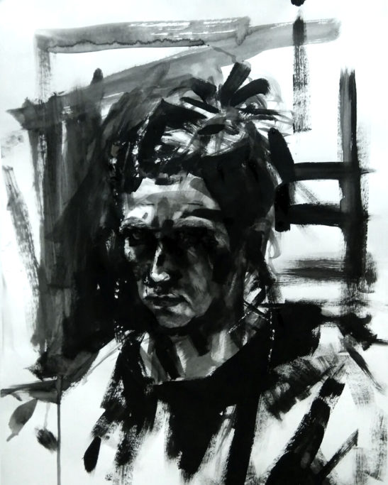 5 Self Portrait 59 x 42 cm Bideford Black
