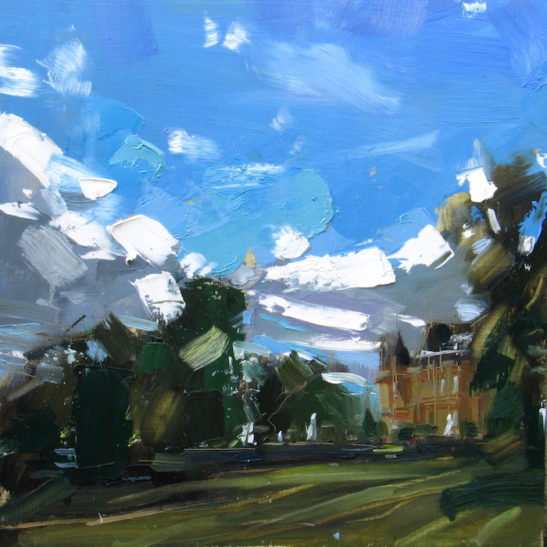 51 waddesdon manor 50 x 50 cm oil on board