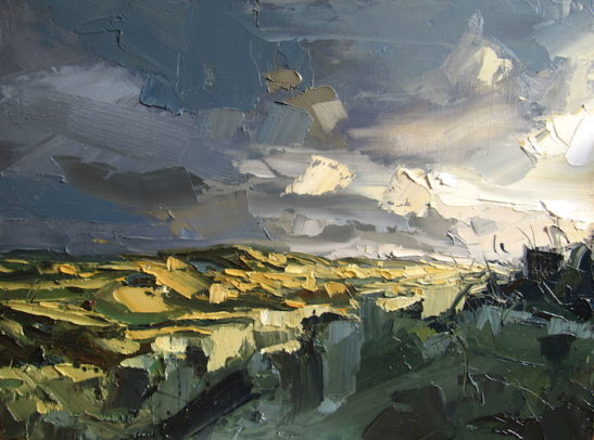 53 last light of the year on braunton burrows 60 x 80 cm