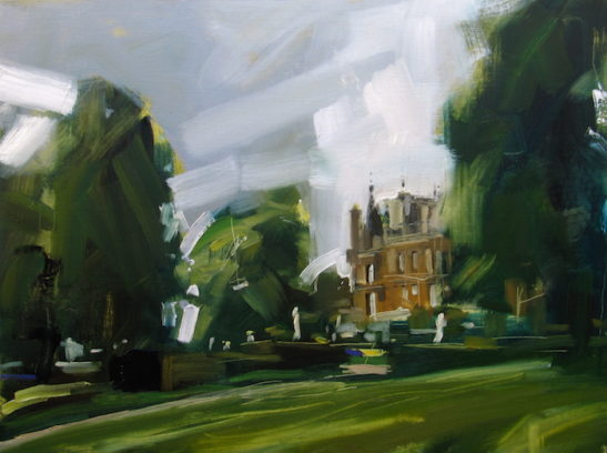 56 waddesdon manor 60 x 80 cm oil on board