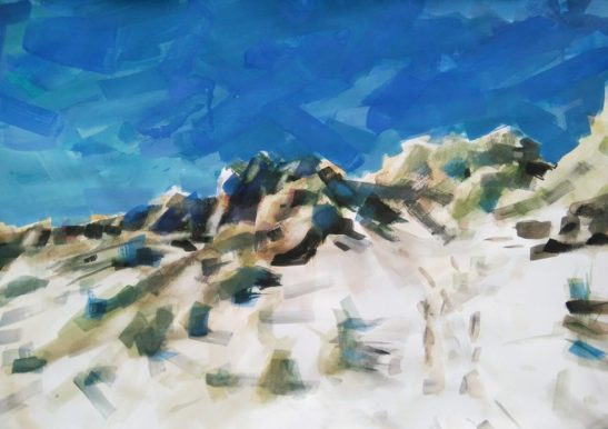 6 Braunton Burrows 59 x 42 cm watercolour