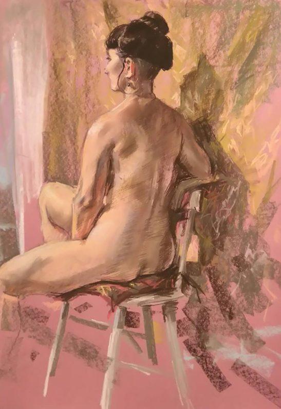 7 Amy 59 x 42 cm pastels