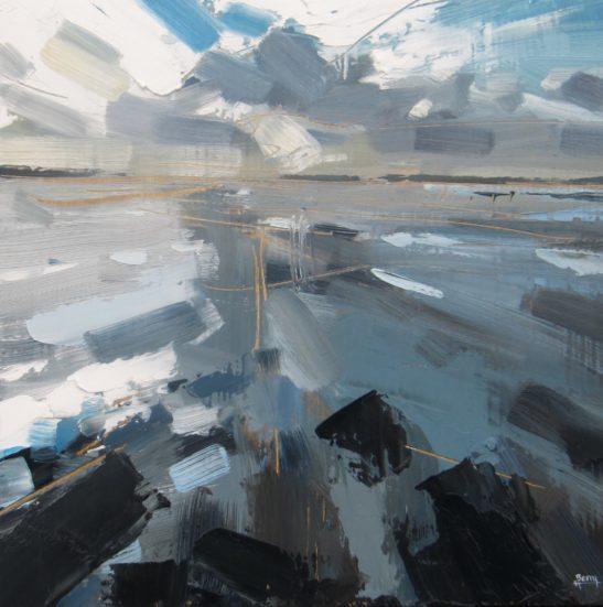 9 Saunton Sands 27.5 x 27.5 cm oil on board