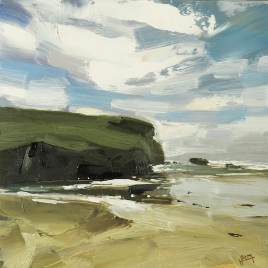 Mawgan Porth 20 x 20 cm oil on board