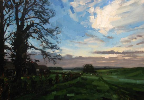 Parsonage Farm 100 x 70 cm oil on board scaled