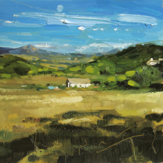 Study for La Quercia 20 x 20 cm oil on board