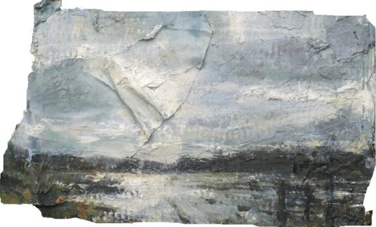 a flooded field guildford 41.5 x 24 cm