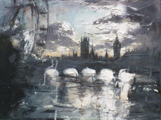 evening over the thames 40x30cm