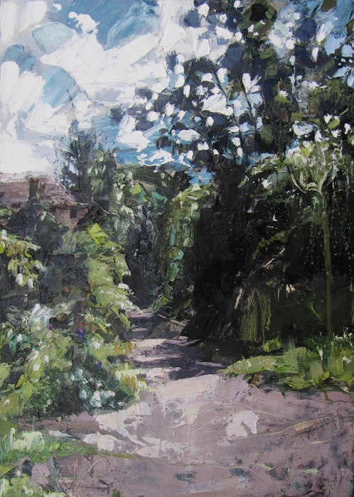 green lane caterham oil on board
