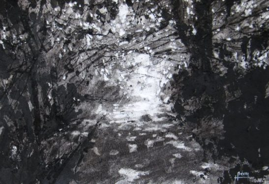 hannaford charcoal on paper