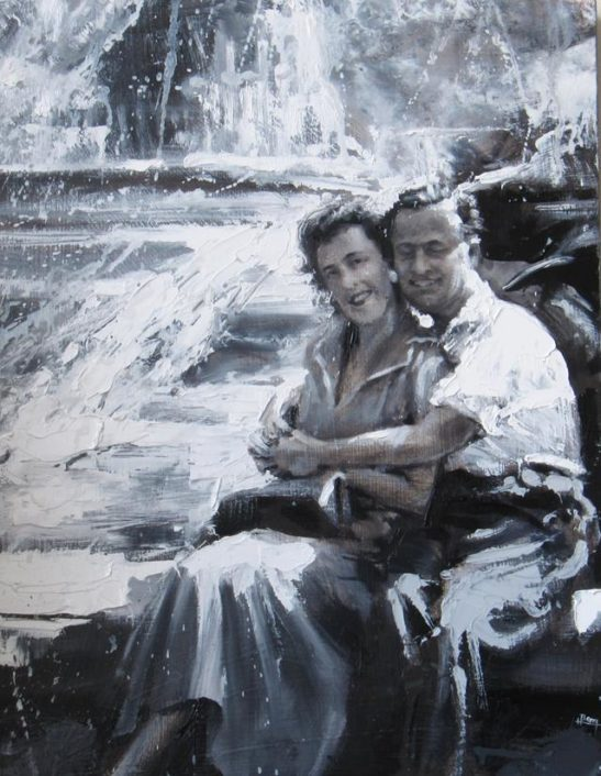 hannahs grandparents 30 x 40 cm oil on canvas