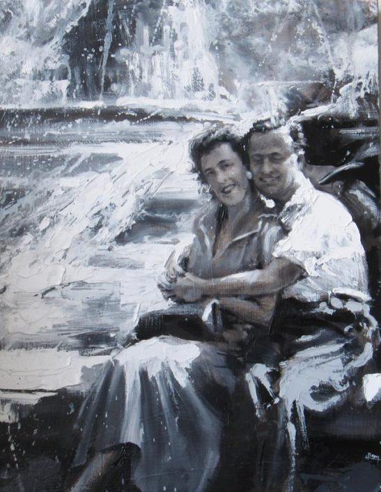 hannahs grandparents 30 x 40 cm oil on canvas