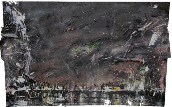 light pollution 85 x 52cm