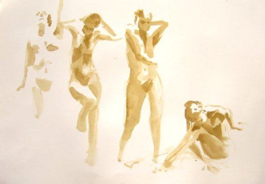 movement watercolour on paper