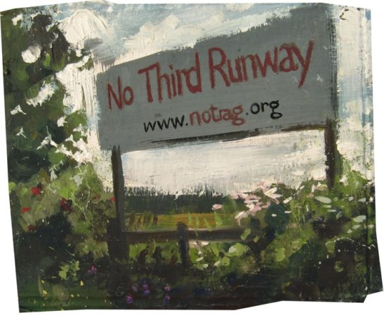 no third runway 16.5 x 14 cm