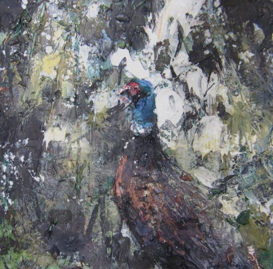 pheasant 13x12.5cm