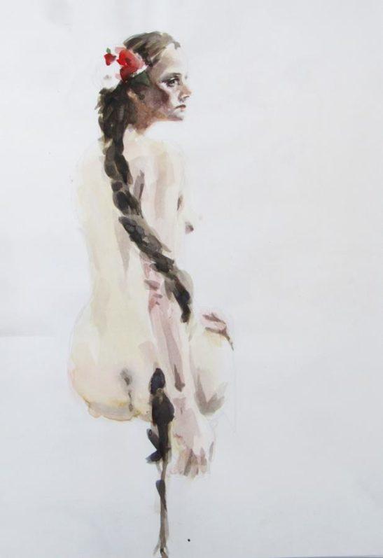 rapunzel 30 x 40 cm watercolour