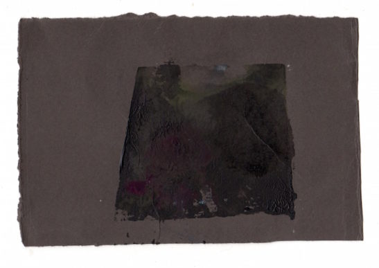 slate monotype on paper x 10 x 8.5 cm