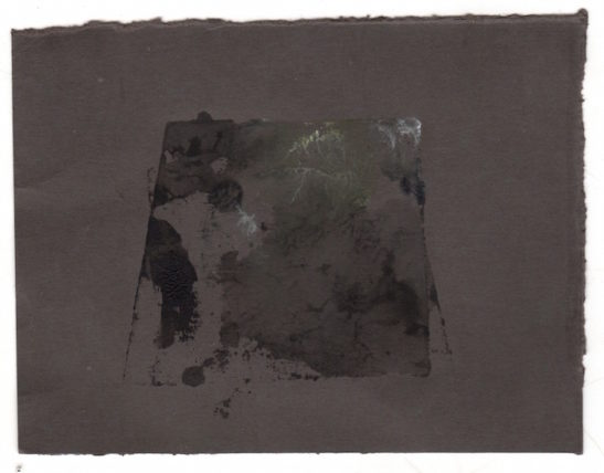 slate monotype on paper xvii 10 x 8.5 cm
