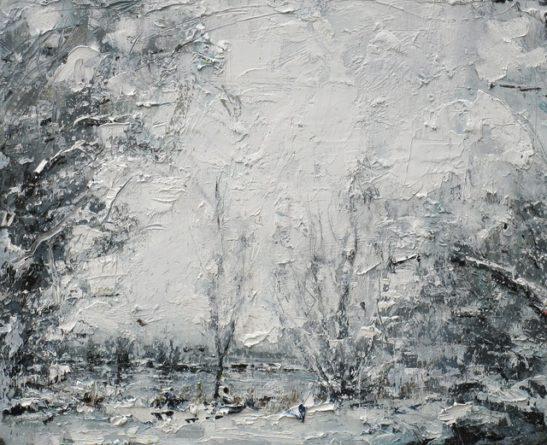 snow brings surrey to a standstill 54 x 41cm