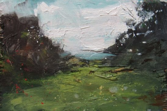 south downs oil on board  19.5 x 13.4