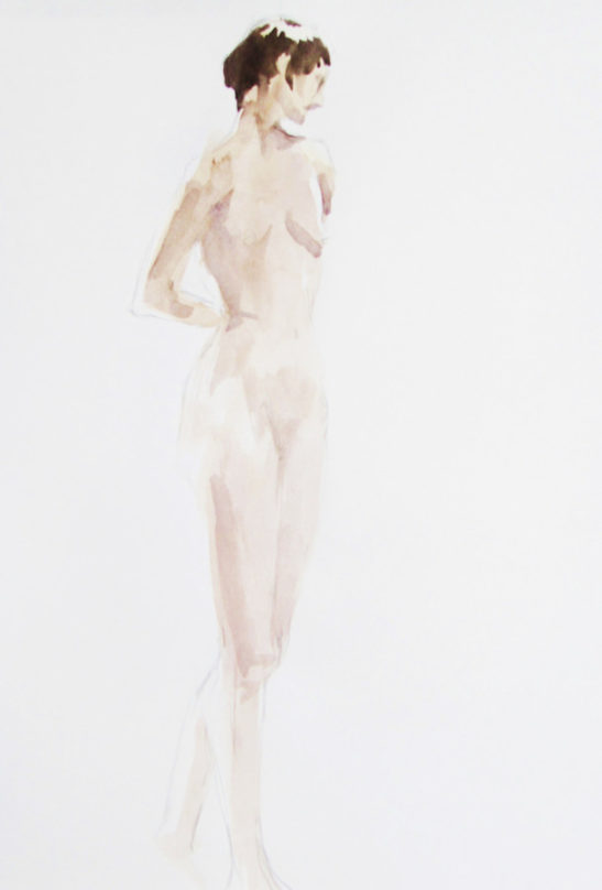 tall figure watercolour