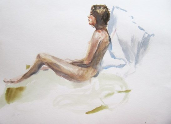the nervous modelwatercolour