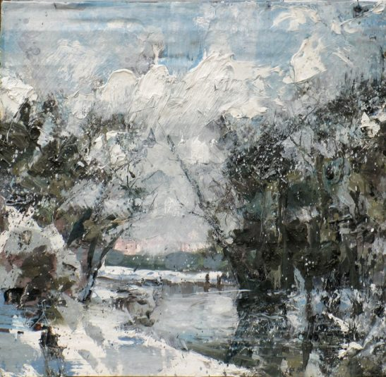 the snows beginning to melt already 28 x 27cm