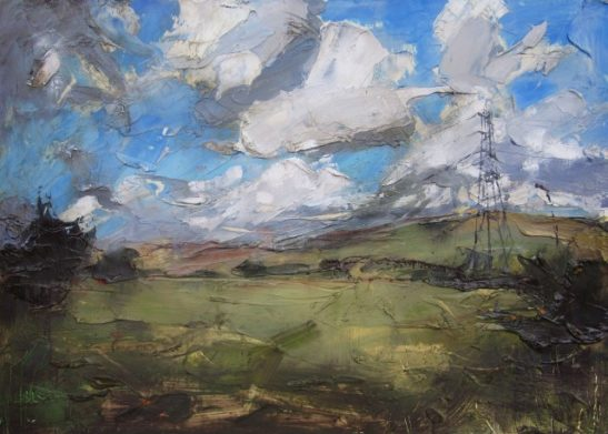 the south downs oil on board