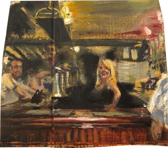 tracy behind the bar 19 x 17 cm