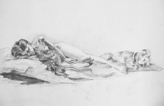 venus of urbino pencil on paper