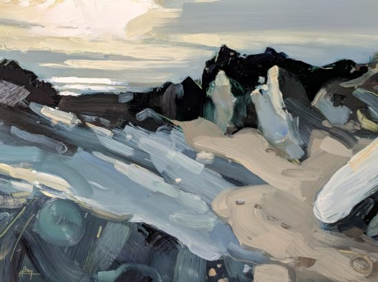 Barricane Beach 22 x 30 cm oil on board