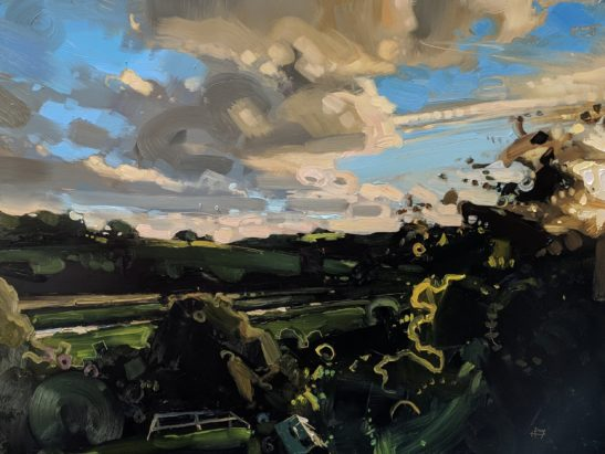 Bishops Tawton 46 x 61 cm oil on board