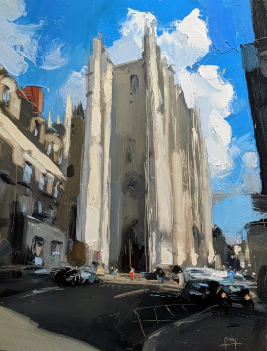 CathÇdrale Saint Pierre et Saint Paul Nantes 22 x 30 cm oil on board
