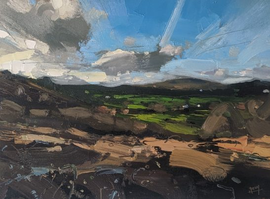 Chagford 29 x 21cm oil on paper