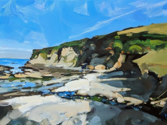 Chapel Point Cove 46 x 61 cm oil on board