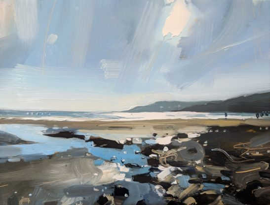 Charmouth 22 x 30 cm oil on board