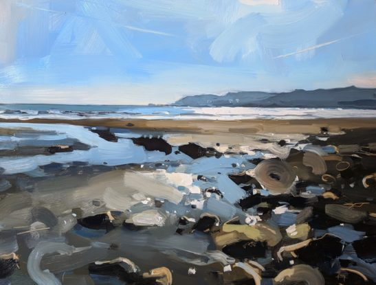 Charmouth 46 x 61 cm oil on board