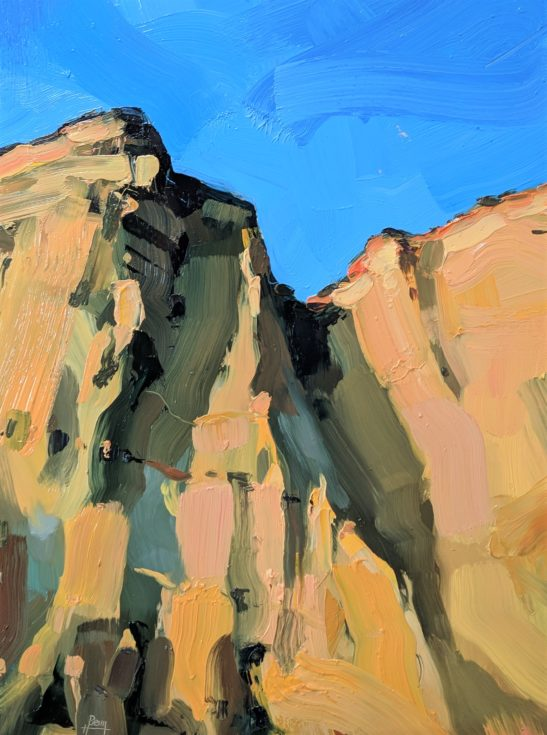 Cliffs at West Bay 22 x 30 cm oil on board