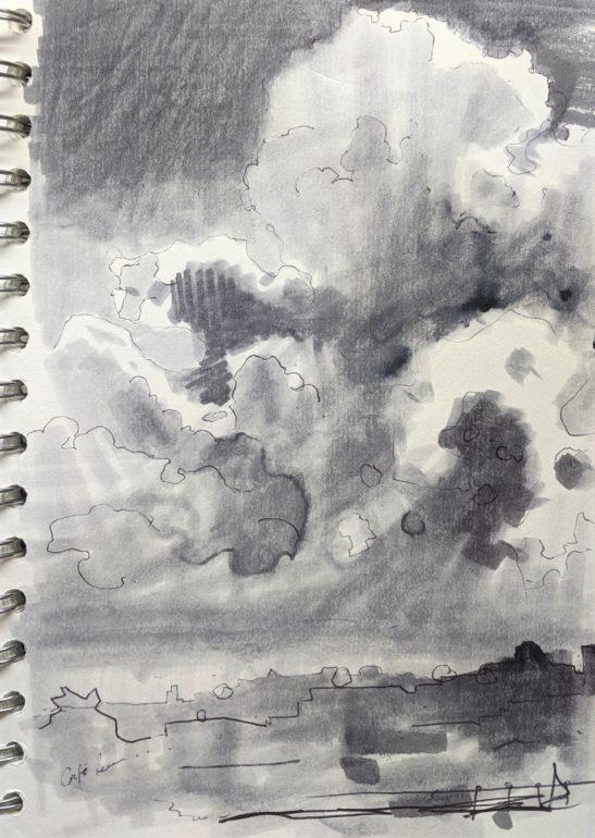 Cumulus Congestus Clouds over Barnstaple