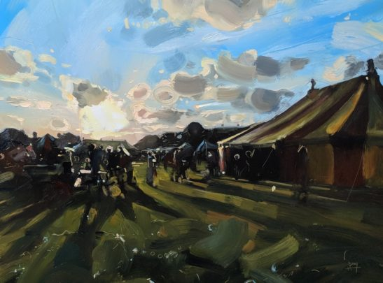 Festival 46 x 61 cm oil on board