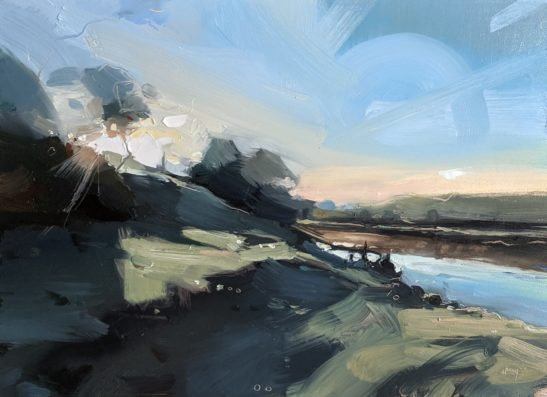 Frosty Morning 22 x 30 cm oil on board