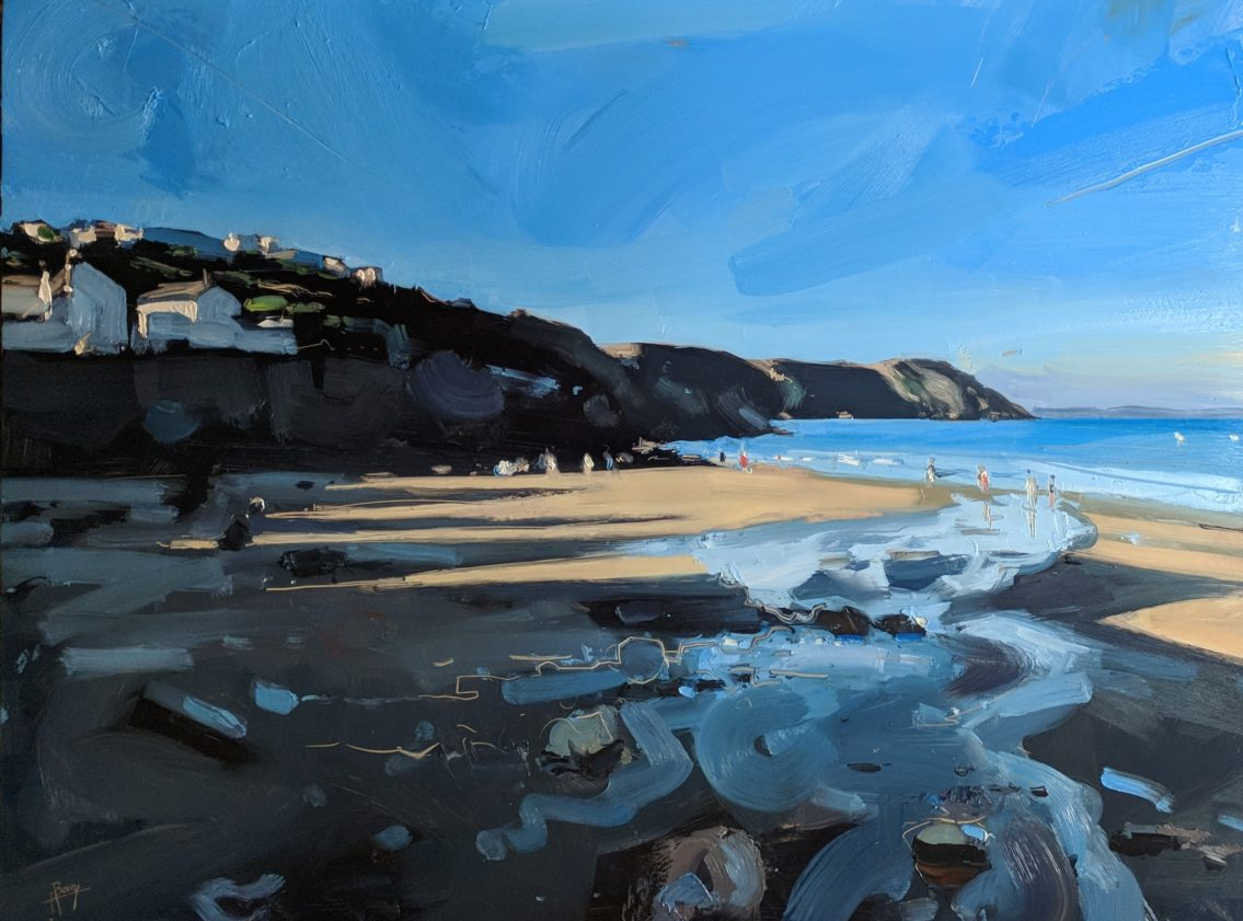 Gorran Haven Evening 46 x 61 cm oil on board