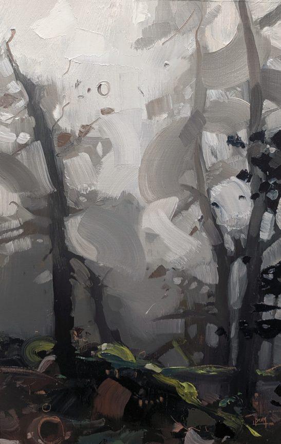 Horner Woods 18 x 30 cm oil on board
