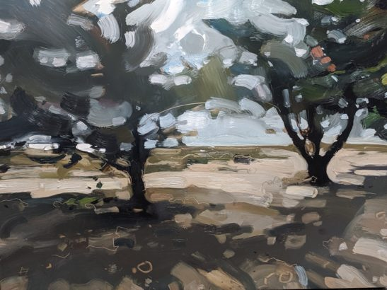 Hot and Windy day the Bay of Bourgneuf 46 x 61 cm oil on board