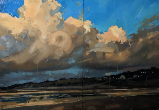 Instow 100 x140 cm oil on board