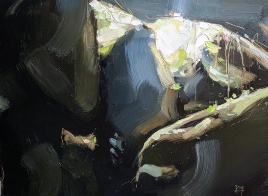 La Grotte du Diable Huelgoat 22 x 30 cm oil on board
