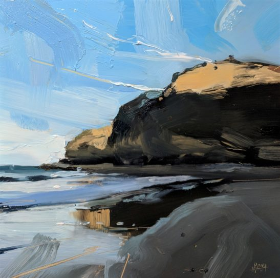 Lee Bay 20 x 20 cm oil on board