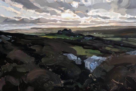 Meldon Hill Chagford 46 x 61 cm oil on board