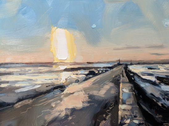 Passage du Gois 22 x 30 cm oil on board